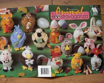 1995 Crochet pattern ANIMAL EGG-STRAVAGANZA