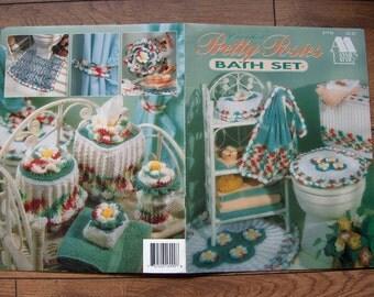 Vintage 1983/92 Crochet pattern Pretty Posies BATH SET