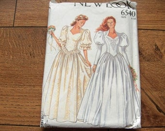 New Look pattern 6540 WEDDING GOWN sz 6-18 uncut