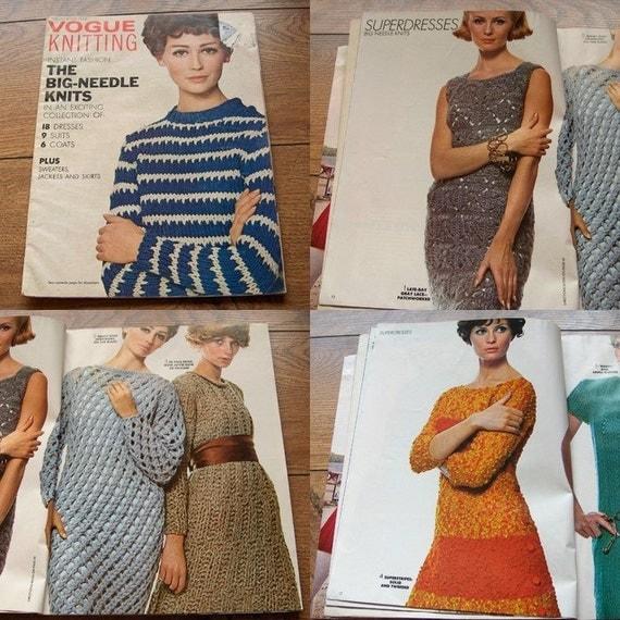 VINTAGE 60s VOGUE knitting patterns Dresses Suits Coats