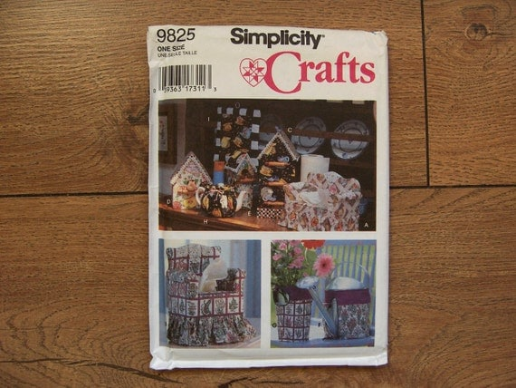 1995 Simplicity Pattern 9825 Tissue Box Cover Paper Towel