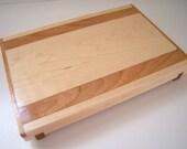 Maple Bread Board with Mahogany Inlay
