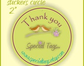 Custom Stickers 2 inch Circle - 5 sheets - 100 stickers
