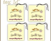 160 Custom Hang Tags - 1x1inch - Personalized