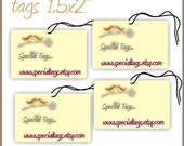 140 Custom Hang Tags - 1.5x2inch - Personalized