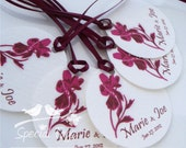 Personalized 1.75inch Circle Tags - 120 tags - Thank You - Love - Weddings - Bridal Shower - Personalized