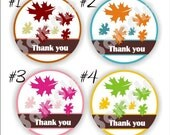 Circle Thank You Stickers - Set of 5 sheets - Weddings - Bridal Shower - Anniversary - Fall Stickers - Thank You