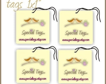 320 Custom Hang Tags - 1x1inch - Personalized