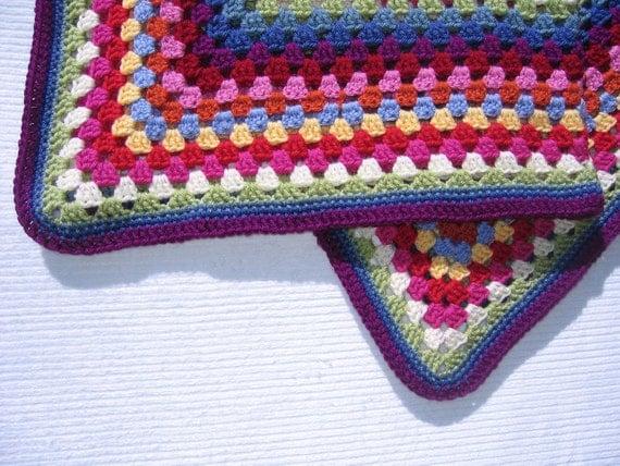 Confetti Crocheted Afghan Throw -Ready to ship-
