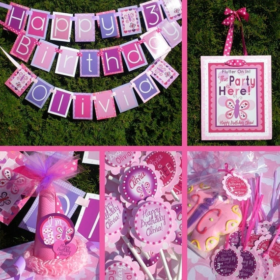 Butterfly Birthday Party Decorations Fully Assembled By