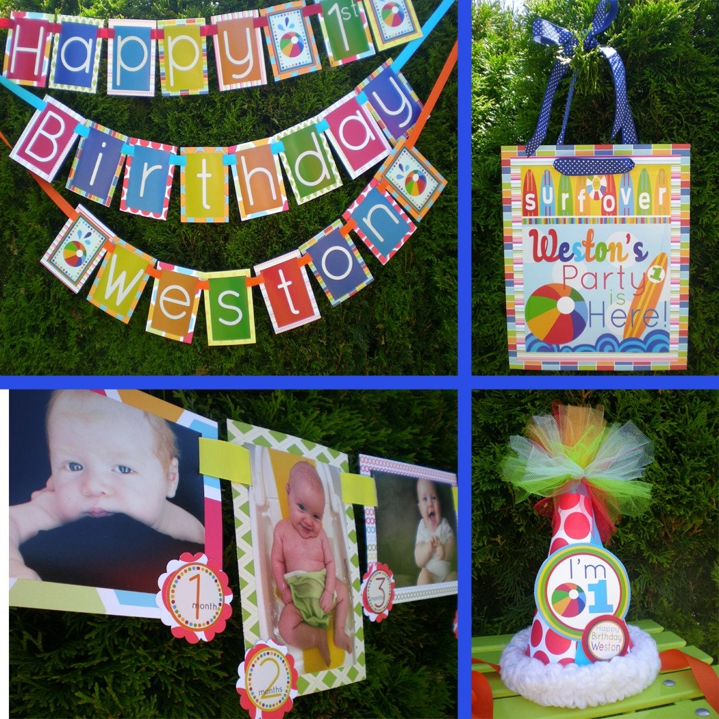 Birthday Decoration: Beach Ball Birthday Party Decorations Fully By PartyGloss