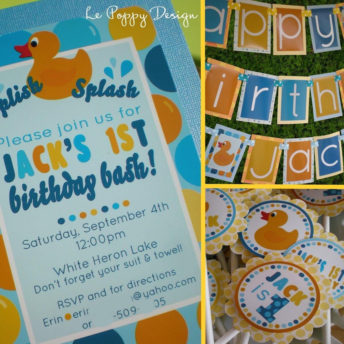 Rubber Ducky Invitations as luxury invitations design