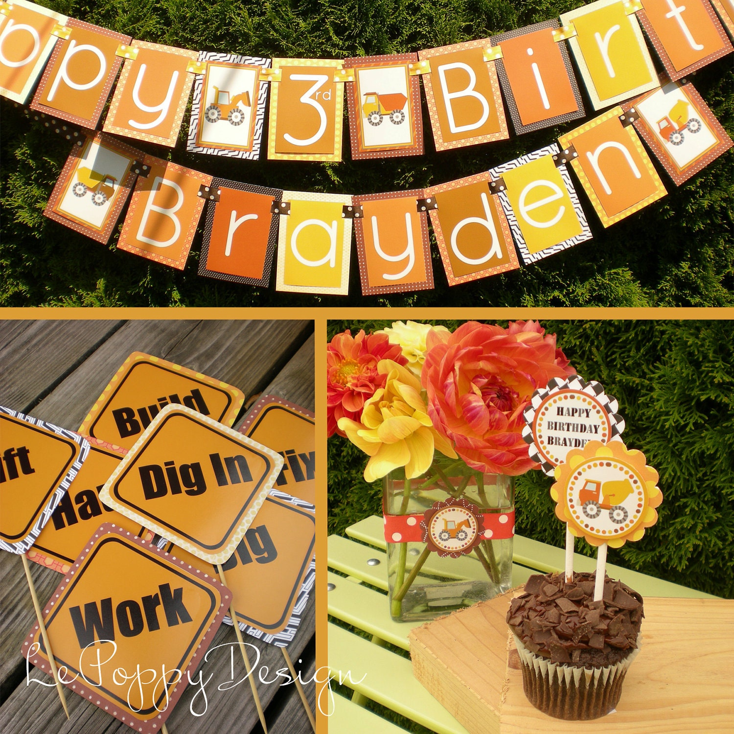 Construction Birthday Party Food Ideas: Construction Birthday Party Decorations Fully Assembled