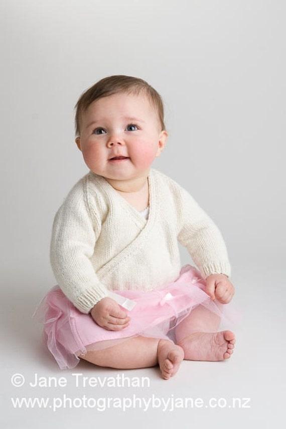 Baby's First Ballet Cardigan - Reserved for BelindaJWhite