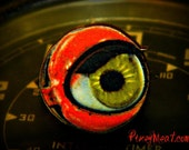 Eyeball Ring Red Green Psychobilly Doll Eye Adjustable