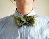 Dapper Knit Tie in Celadon Green