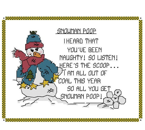 Go Back > Gallery For > Snowman Poop Printable