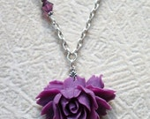Joyce - Cabbage Rose Vintage Necklace