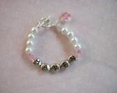 Reserved for Rebecca -Haven's Butterfly Kisses Bracelet - Baby Bracelet - Celebrate New Life