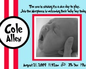 Birth Announcement Dr seuss style