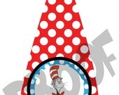 Dr seuss inspired  Tie Printable Iron on Transfer Design with rush fee