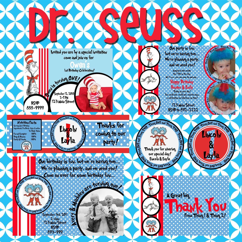 Dr Seuss Free Birthday Printables Gallery dr birthday cake ideas and ...