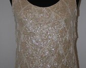 HOLD for KH   - If he won't get you diamonds.....Buy yourself something that sparkles...Glitzy Sequined  and Beaded Top