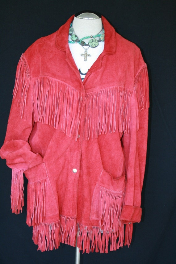 Well Behaved Women Rarely Make History - Rockabilly- Cowgirl - Red Western Fringed Jacket