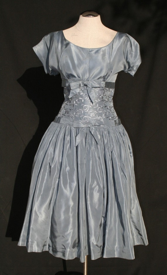 Little Debbie - 1950's Cinch Waist Party Dress With Popping Red Petticoat HOLD FOR IBUK
