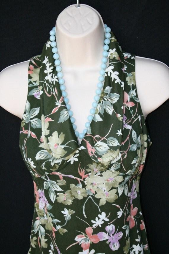 Feel Like A Na-tru-al WOMAN   - Circa 70's Maxi -Floral - Botanical - Granny Maxi - Hippie Boho