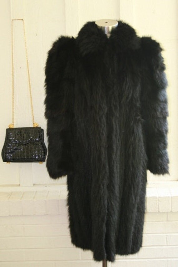 Sunggle Up To Mama Bear - Black Bear Coat  - Glamorous - Steampunk - Rock'n Roll -  by E.M. Schmidt of Chicago