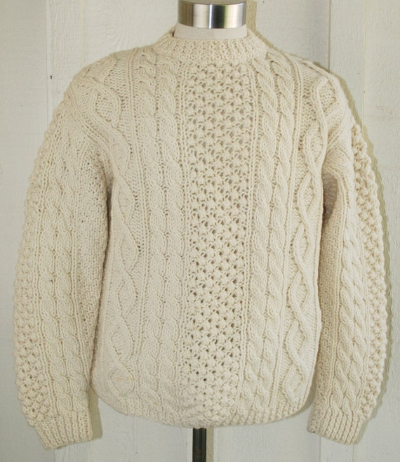 Unisex - Cable Knit Fisherman's Sweater - Tally Ho - Henry Pollak Inc. - Made in Italy
