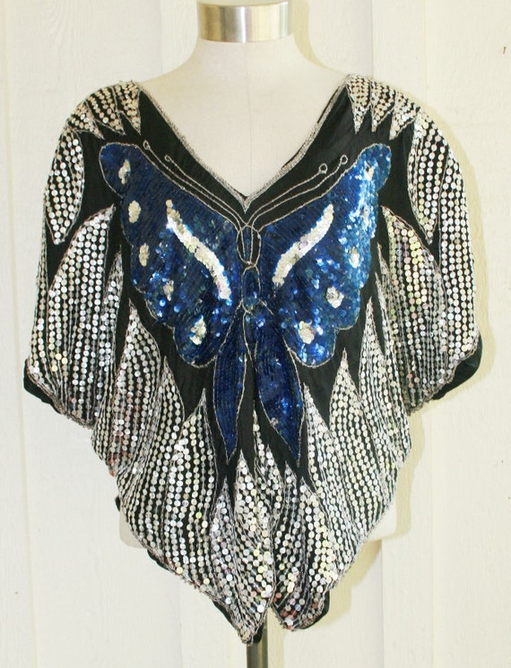 Electric Butterfly - Circa 70's - Disco Top - Large