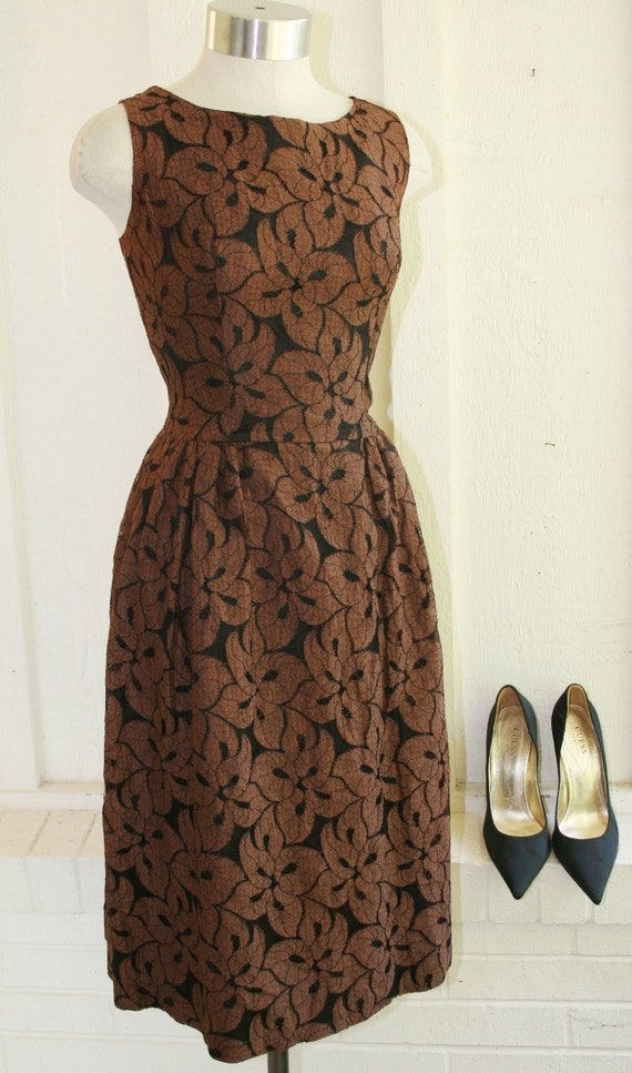 Insanity...Always The Best Defense - Circa 1950s -60's - Mad Men - Wedding - Brown Lace on Black