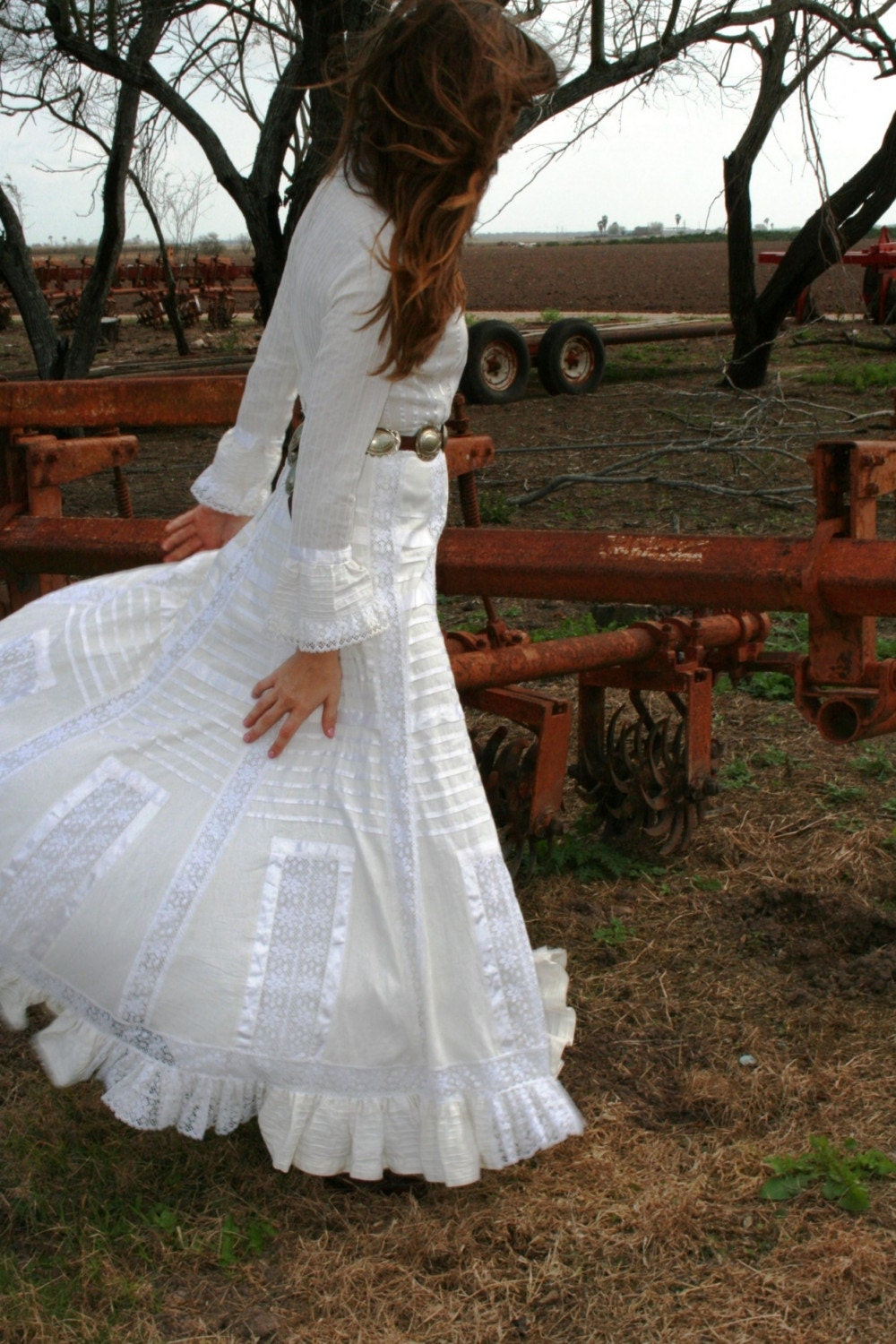 Mi Esposa Exquisite Pin Tucked Mexican Wedding Dress