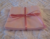 Set of 12 Pink Flannel Squares Rotary Cut 6 inch for Quilts or Crafts