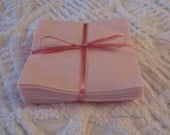 Set of 36 Pink Flannel Rotary Cut 6 inch Squares for Quilts and Crafts