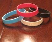 One of a kind silicone bracelets Tasfa is Amharic for Hope (Black)