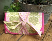Diaper Clutch, Butler and Bailey Fabrics