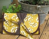 Diaper Clutch, Mustard and Willow