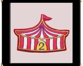 Big Top Circus Birthday Patch