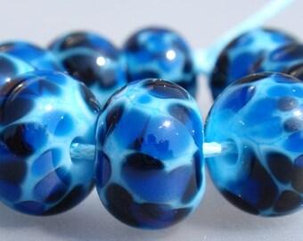 Funny Fritts - 10 handmade lampwork beads F 17