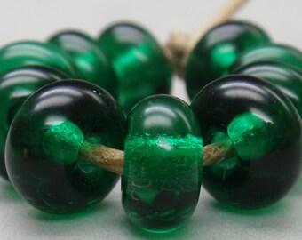 10 Spacer Beads - Handmade Lampwork - S 12