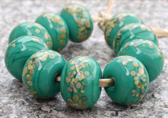 Funny Fritts - 10 handmade lampwork beads F 12