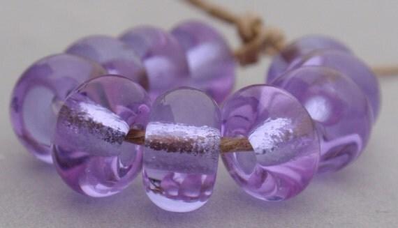 10 Spacer Beads - Handmade Lampwork - S 34