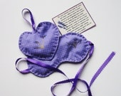 Lavender Eye Mask and Sachet with Flax- Aroma Warm or Cold Therapy