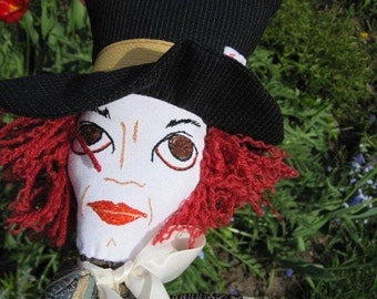Mad Hatter Hand Puppet from Alice in Wonderland- Child's Toy - Storybook Character Puppet