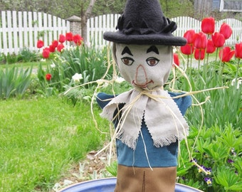 Hand Puppet - Scarecrow of Wizard of Oz - Child's Toy - One of a Set- Custom Made Puppet