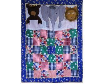 Custom Baby Quilt- The Bear, Elephant, and Lion