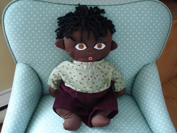 African Boy Doll- Custom- Birth or Adoption